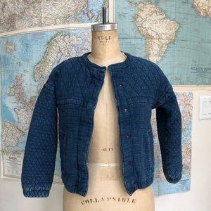 Quilted denim jacket xs